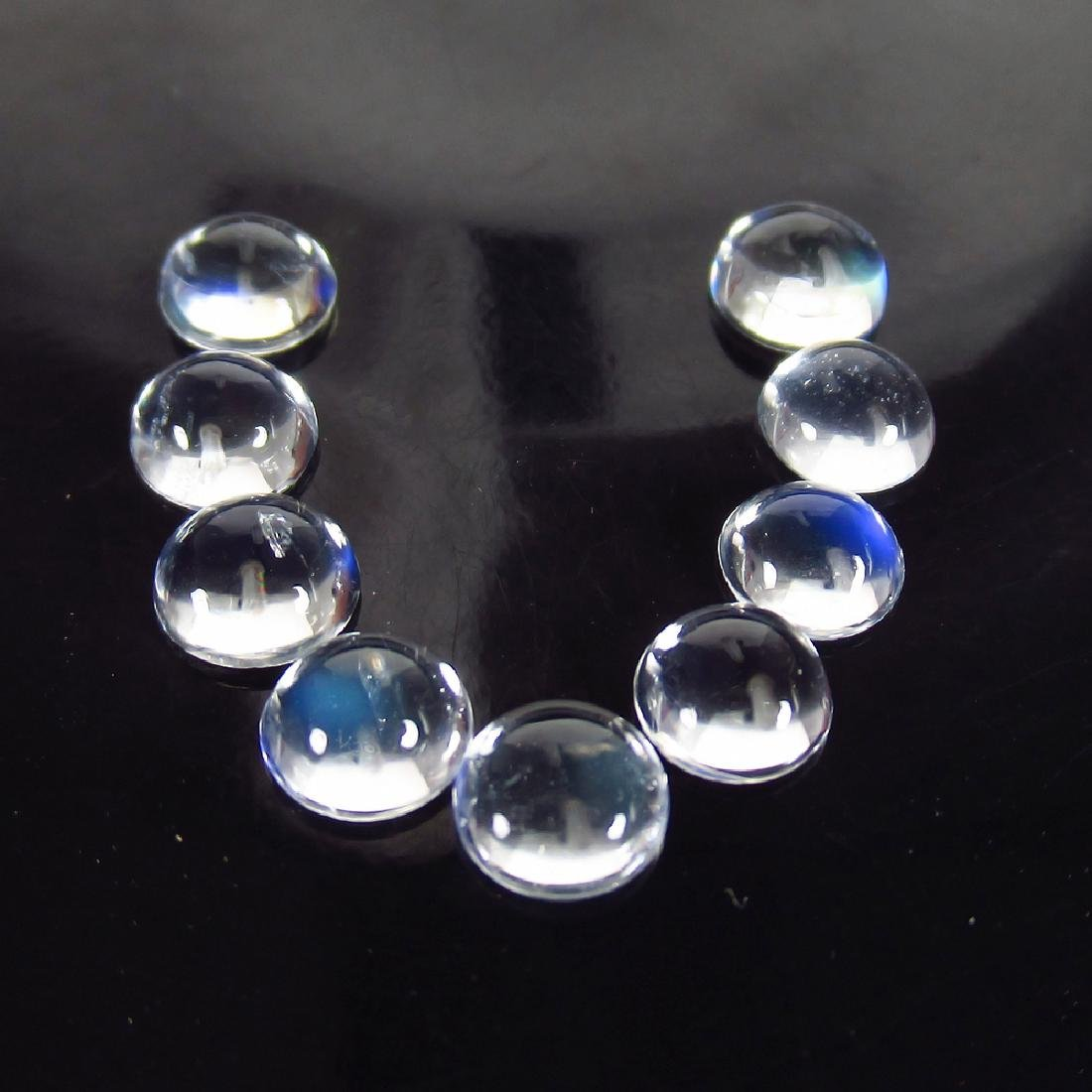 3.67 Ct Genuine 9 Moonstone Matching Round Cabochon Set
