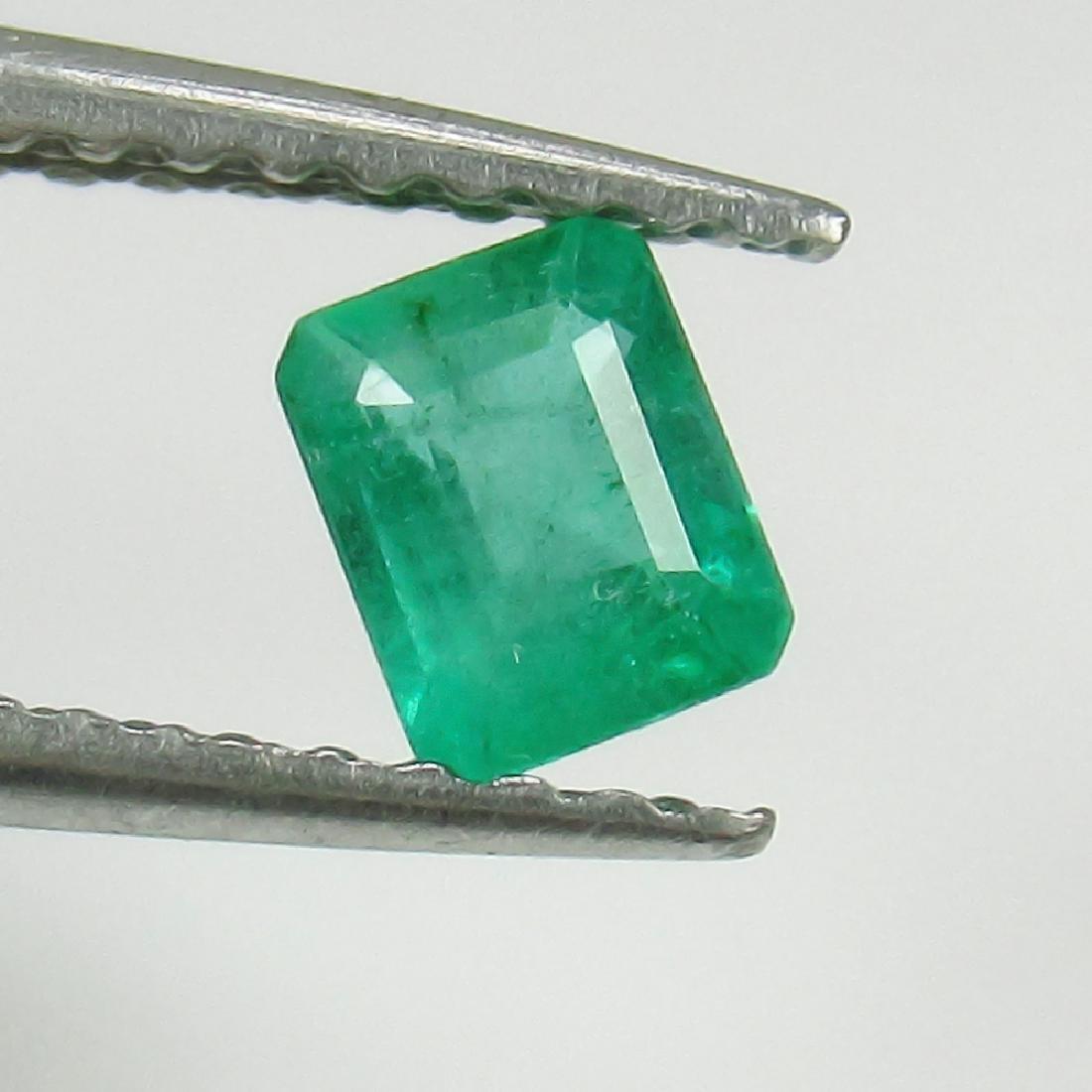 0.32 Ct Genuine Zambian Emerald 4.5X3.5 mm Octagon Cut
