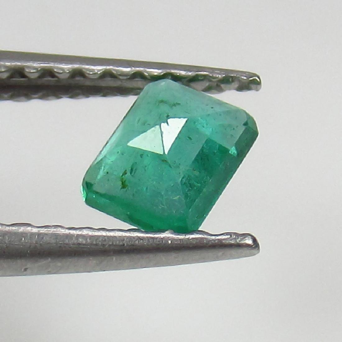 0.32 Ct Genuine Zambian Emerald 4.5X3.5 mm Octagon Cut - 2