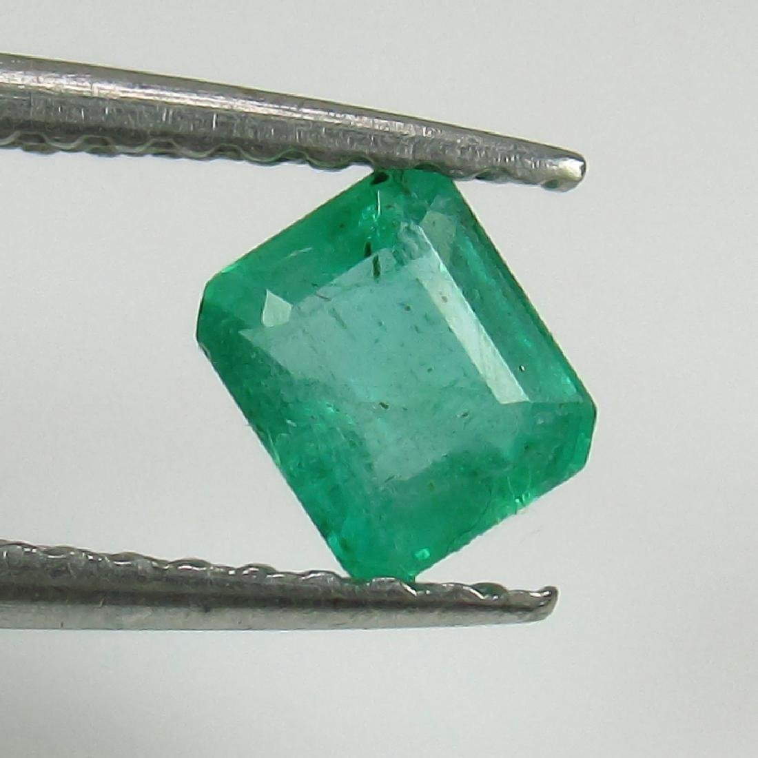 0.36 Ct Genuine Zambian Emerald Excellent Octagon Cut