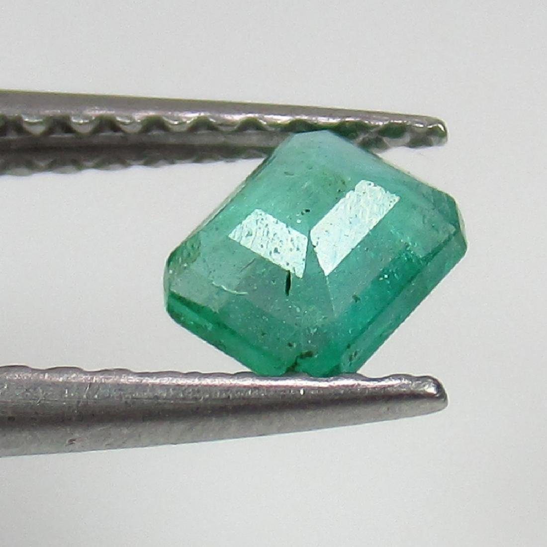 0.36 Ct Genuine Zambian Emerald Excellent Octagon Cut - 2