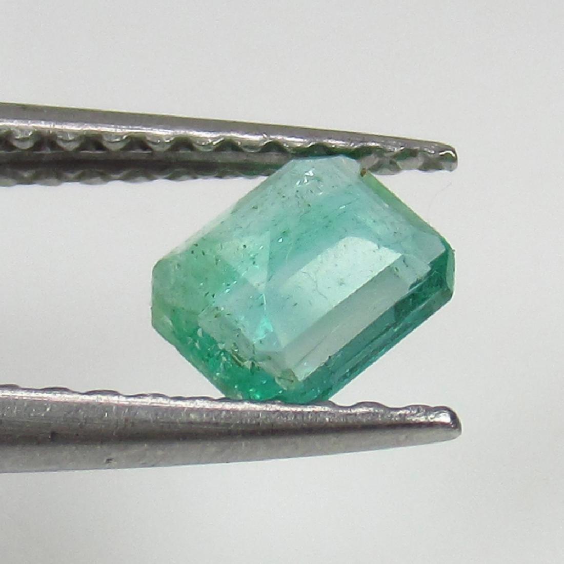 0.37 Ct Genuine Zambian Emerald Excellent Octagon Cut - 2