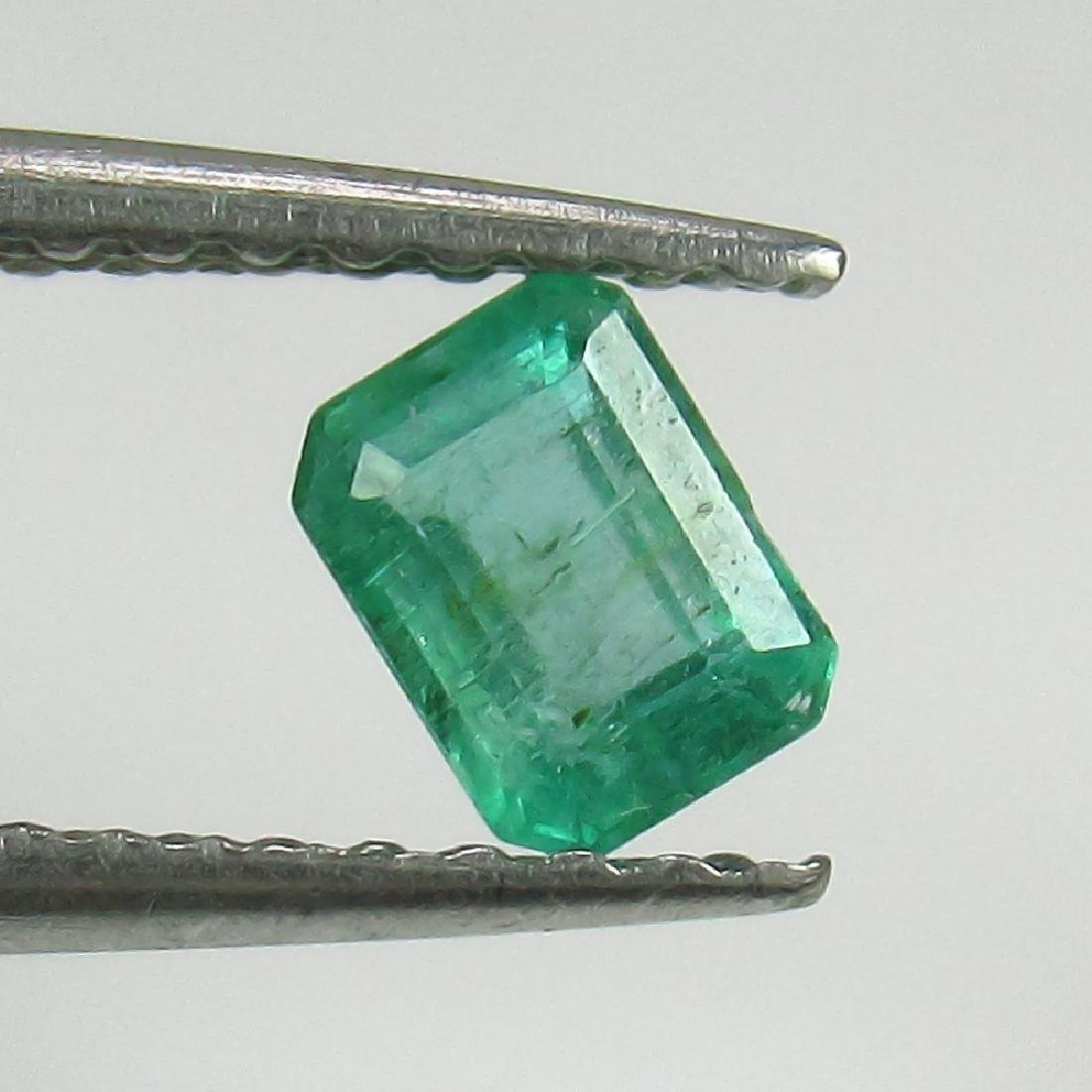 0.38 Ct Genuine Zambian Emerald 4.5X3.5 mm Octagon Cut