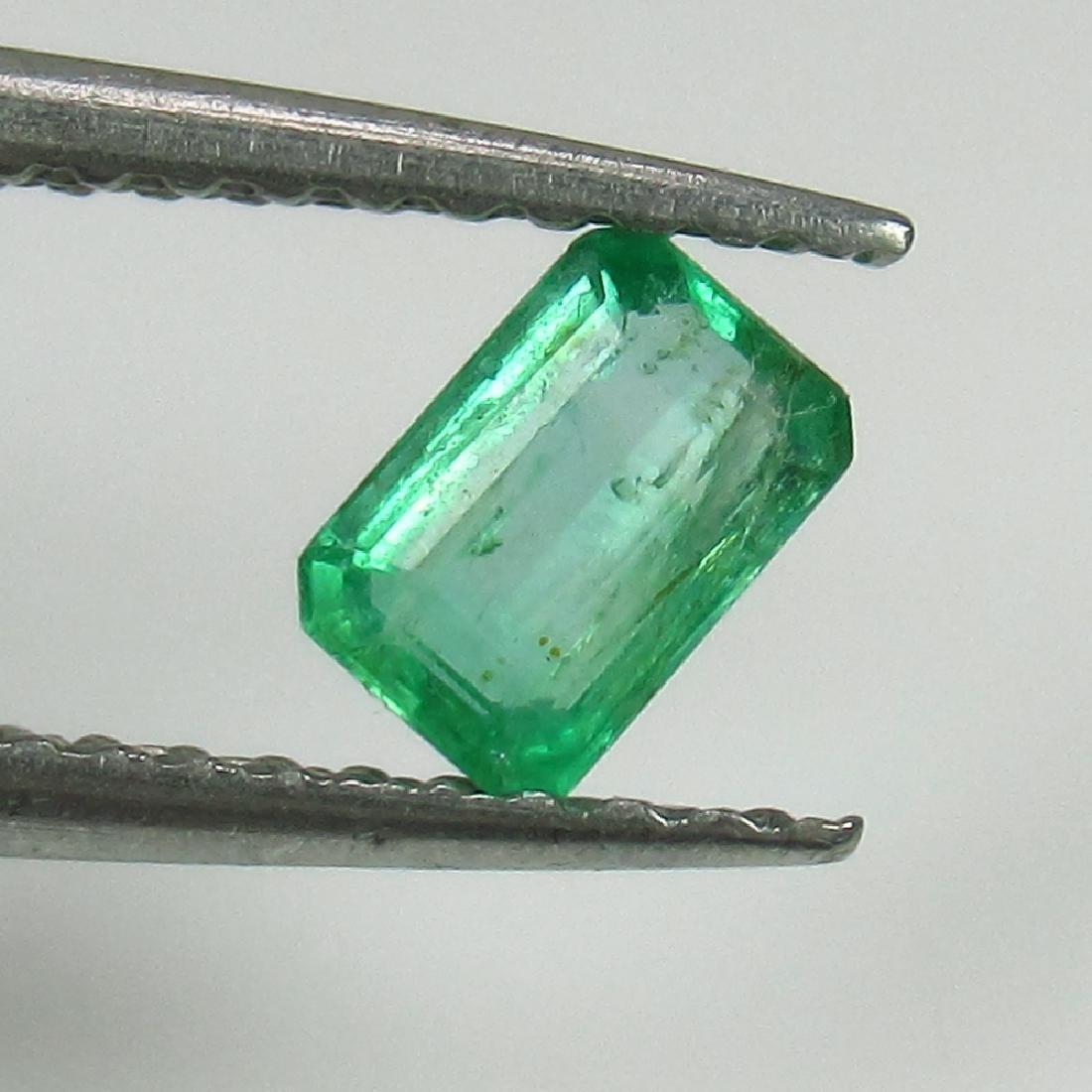 0.38 Ct Genuine Zambian Emerald 5X3.5 mm Octagon Cut