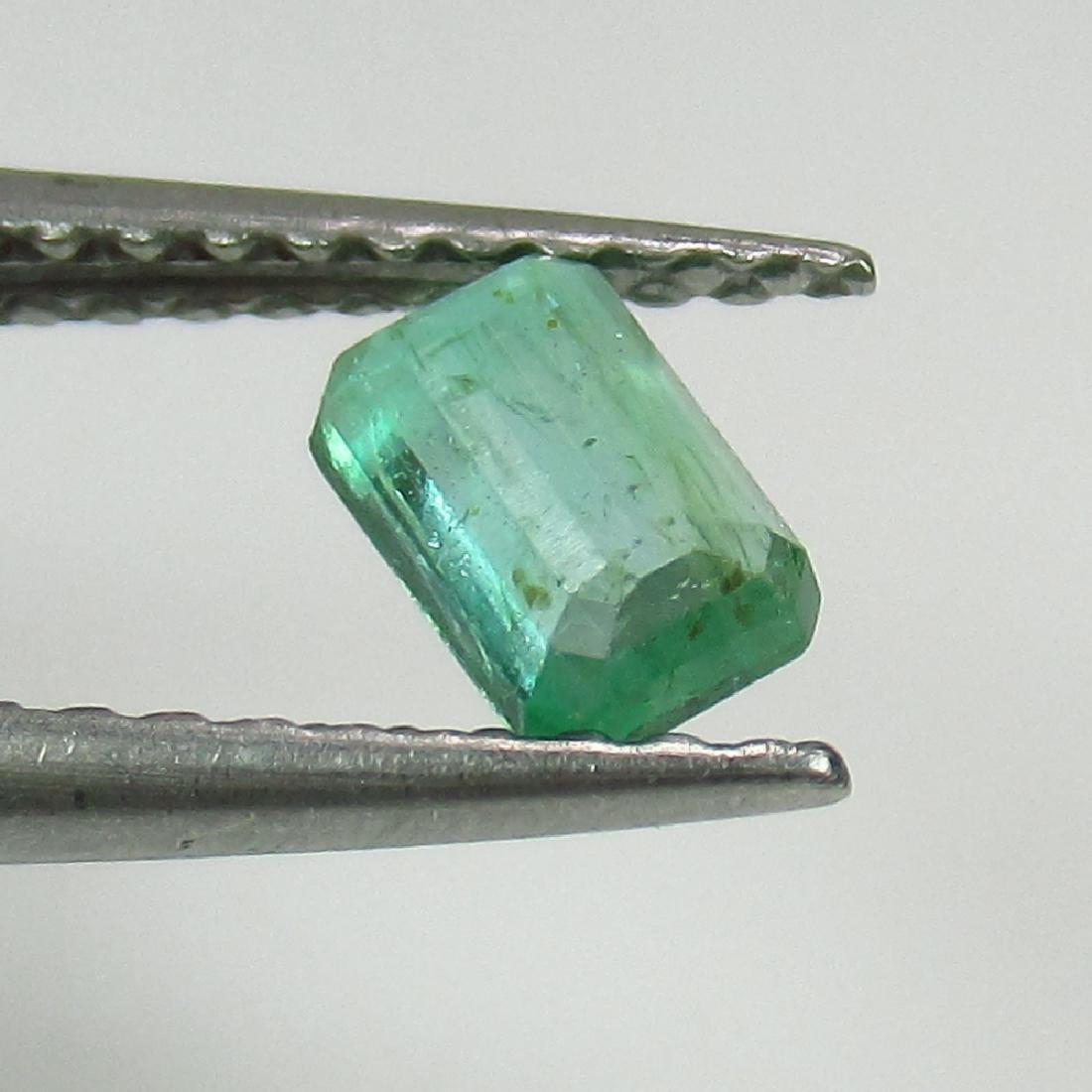 0.38 Ct Genuine Zambian Emerald 5X3.5 mm Octagon Cut - 2