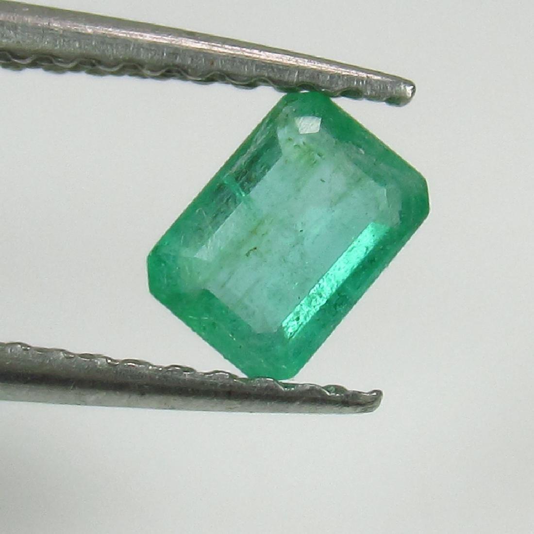 0.39 Ct Genuine Zambian Emerald 5X3.5 mm Octagon Cut