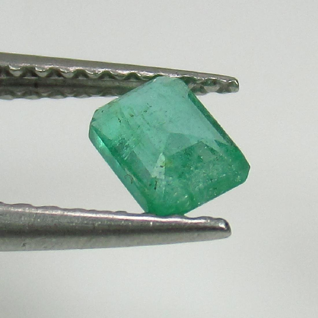 0.39 Ct Genuine Zambian Emerald 5X3.5 mm Octagon Cut - 2