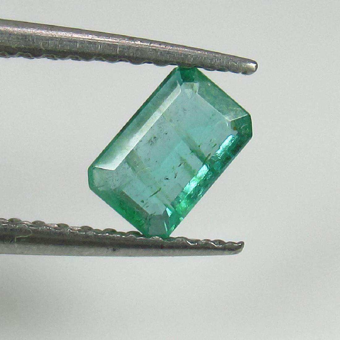 0.39 Ct Genuine Zambian Emerald 5.5X3.5 mm Octagon Cut