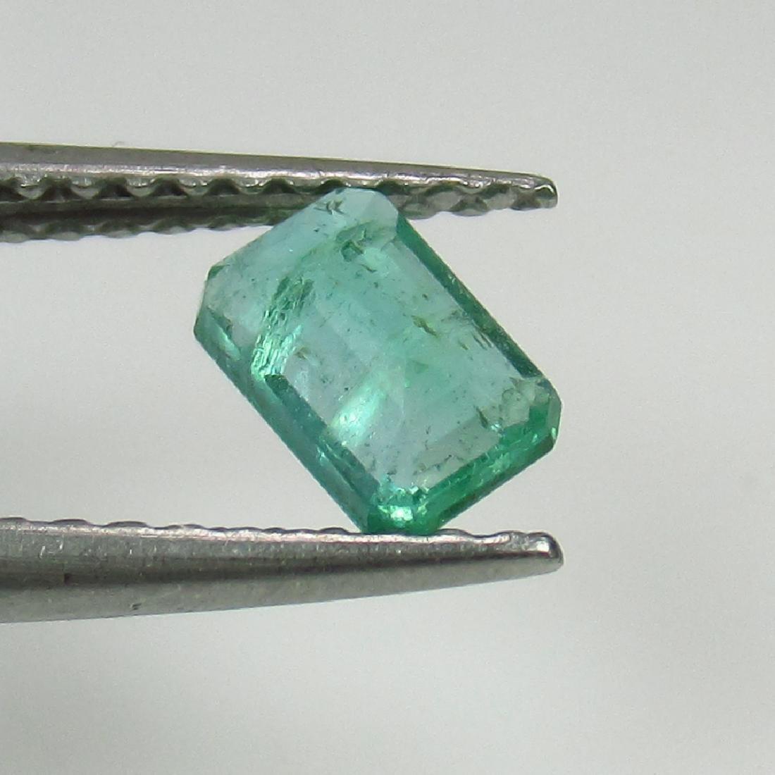 0.39 Ct Genuine Zambian Emerald 5.5X3.5 mm Octagon Cut - 2