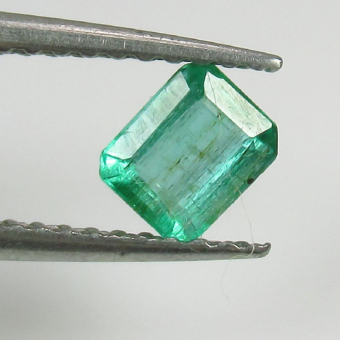 0.41 Ct Genuine Zambian Emerald 5X4 mm Octagon Cut