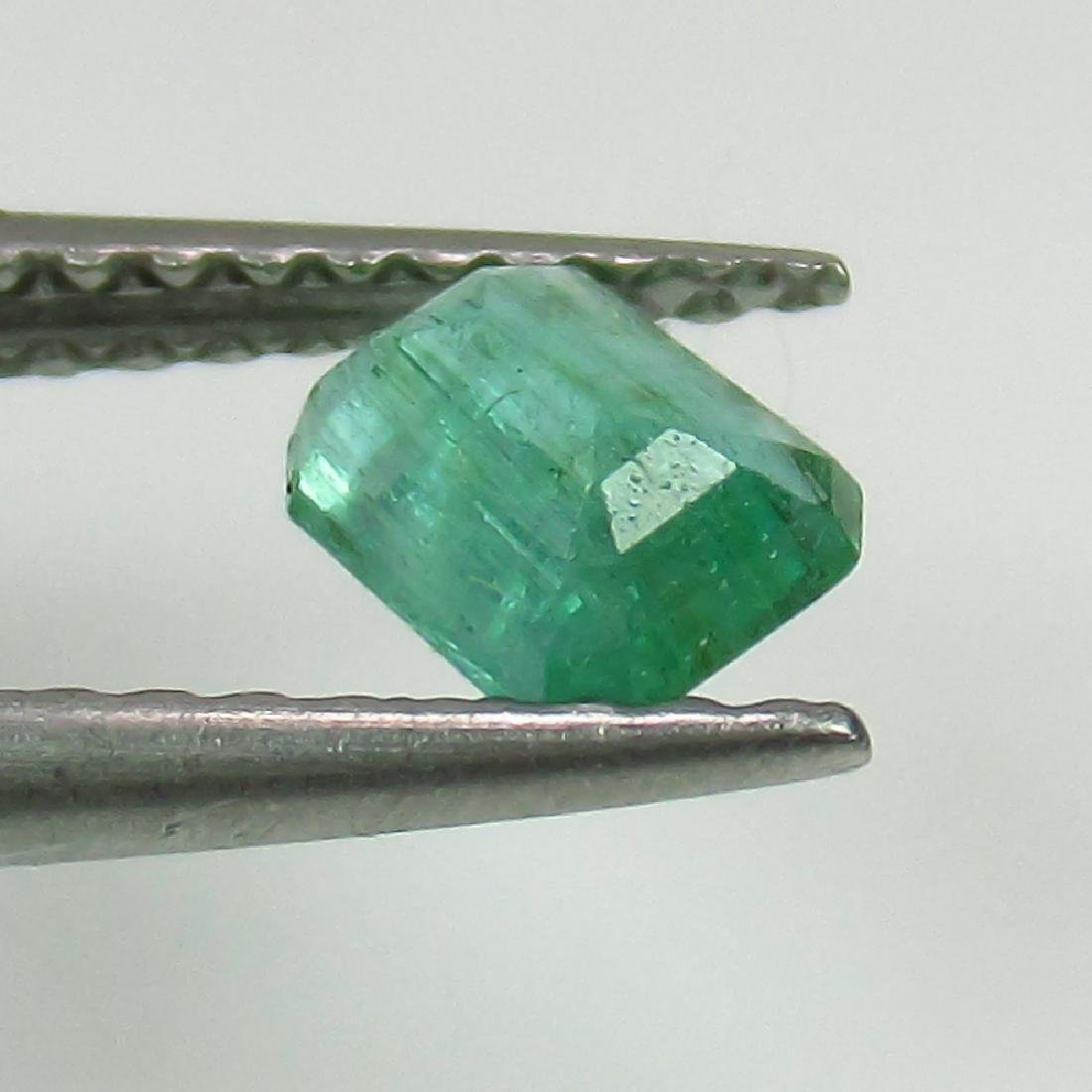 0.41 Ct Genuine Zambian Emerald 5X4 mm Octagon Cut - 2