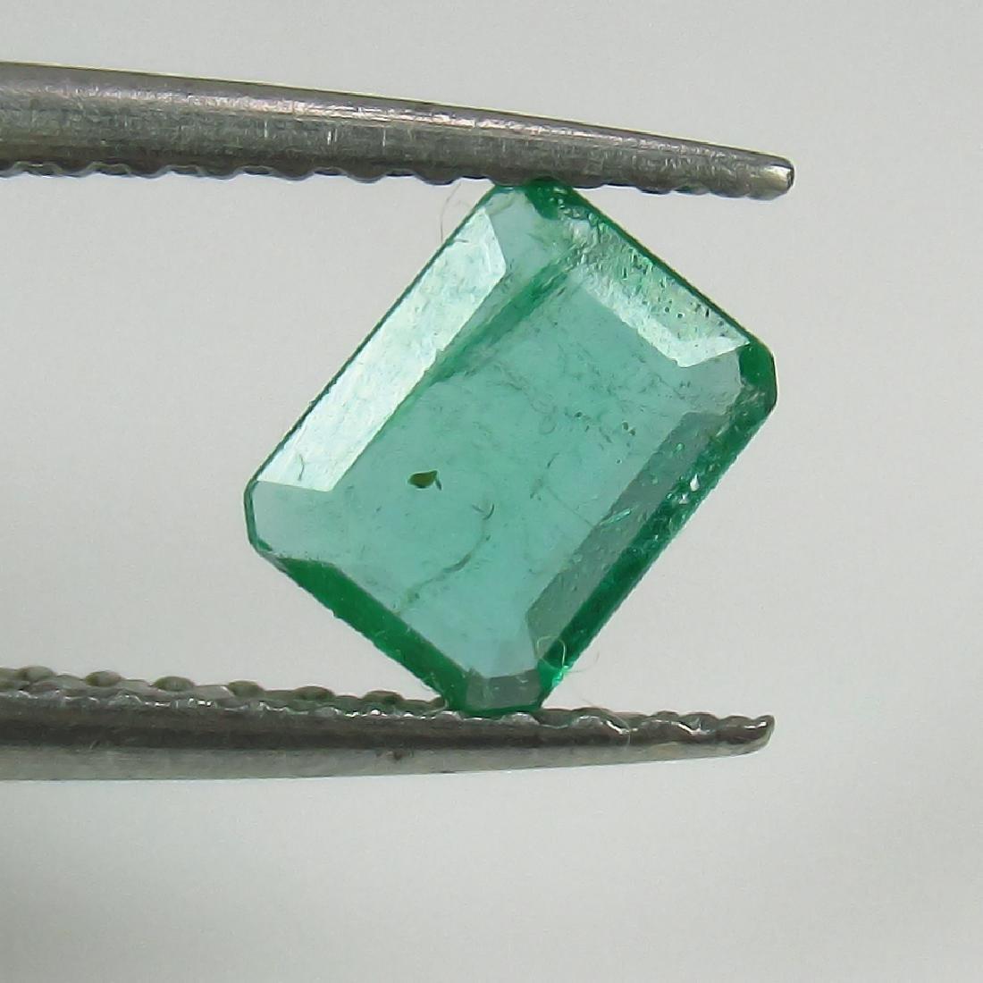 0.42 Ct Genuine Zambian Emerald Excellent Octagon Cut