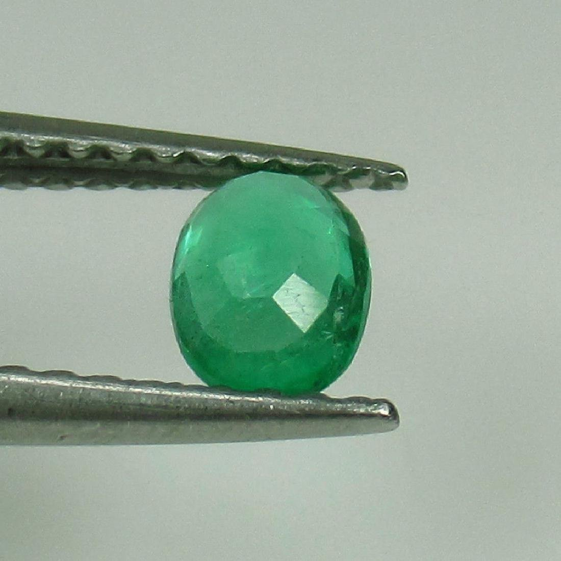 0.29 Ct Genuine Zambian Emerald Nice Oval Cut - 2