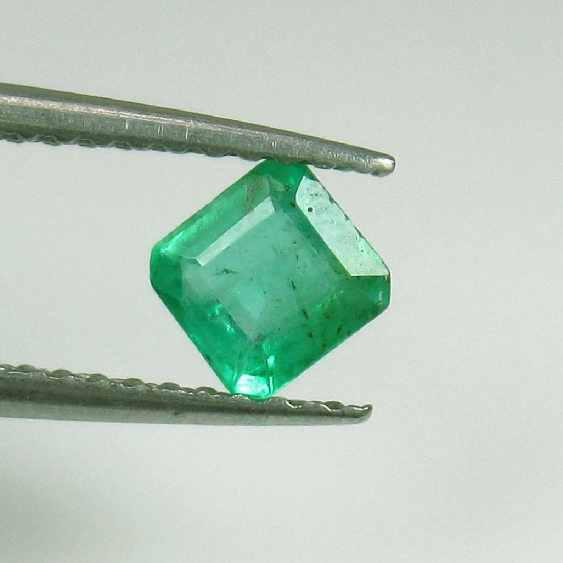 0.39 Ct Genuine Zambian Emerald 4.5X4.5 mm Square