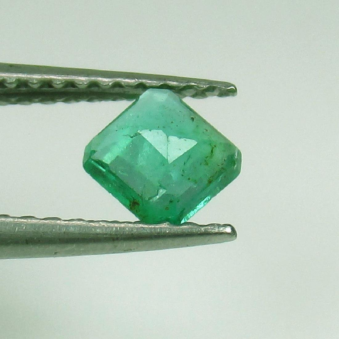 0.39 Ct Genuine Zambian Emerald 4.5X4.5 mm Square - 2
