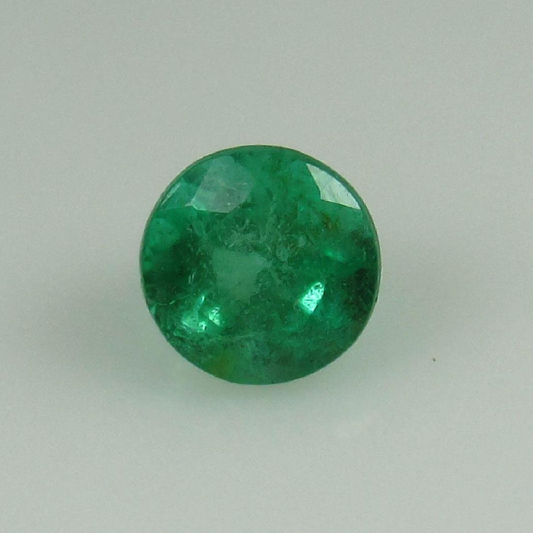 0.40 Ct Genuine Zambian Emerald 4.5 mm Round Cut
