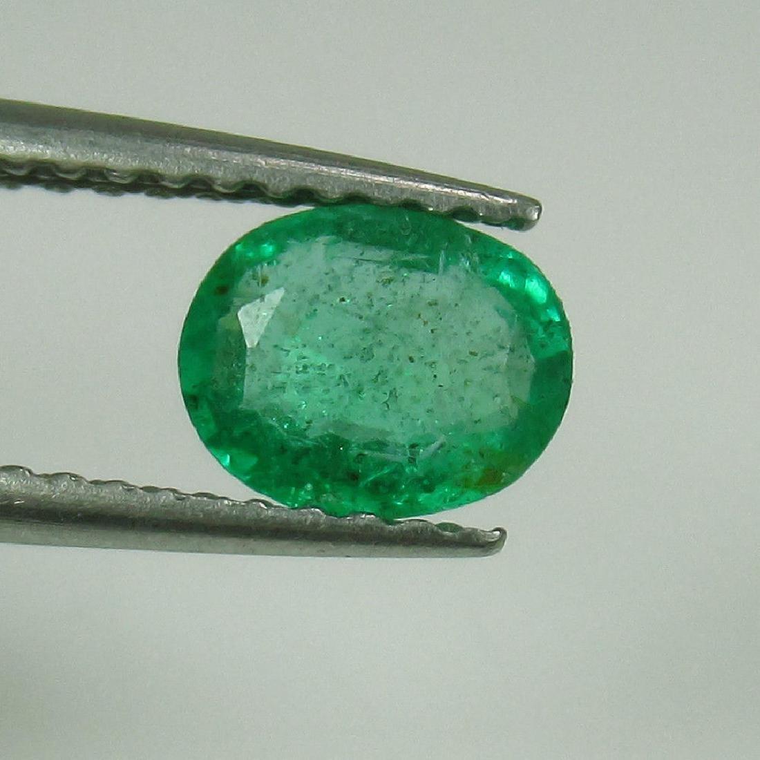 0.61 Ct Genuine Zambian Emerald Nice Oval Cut