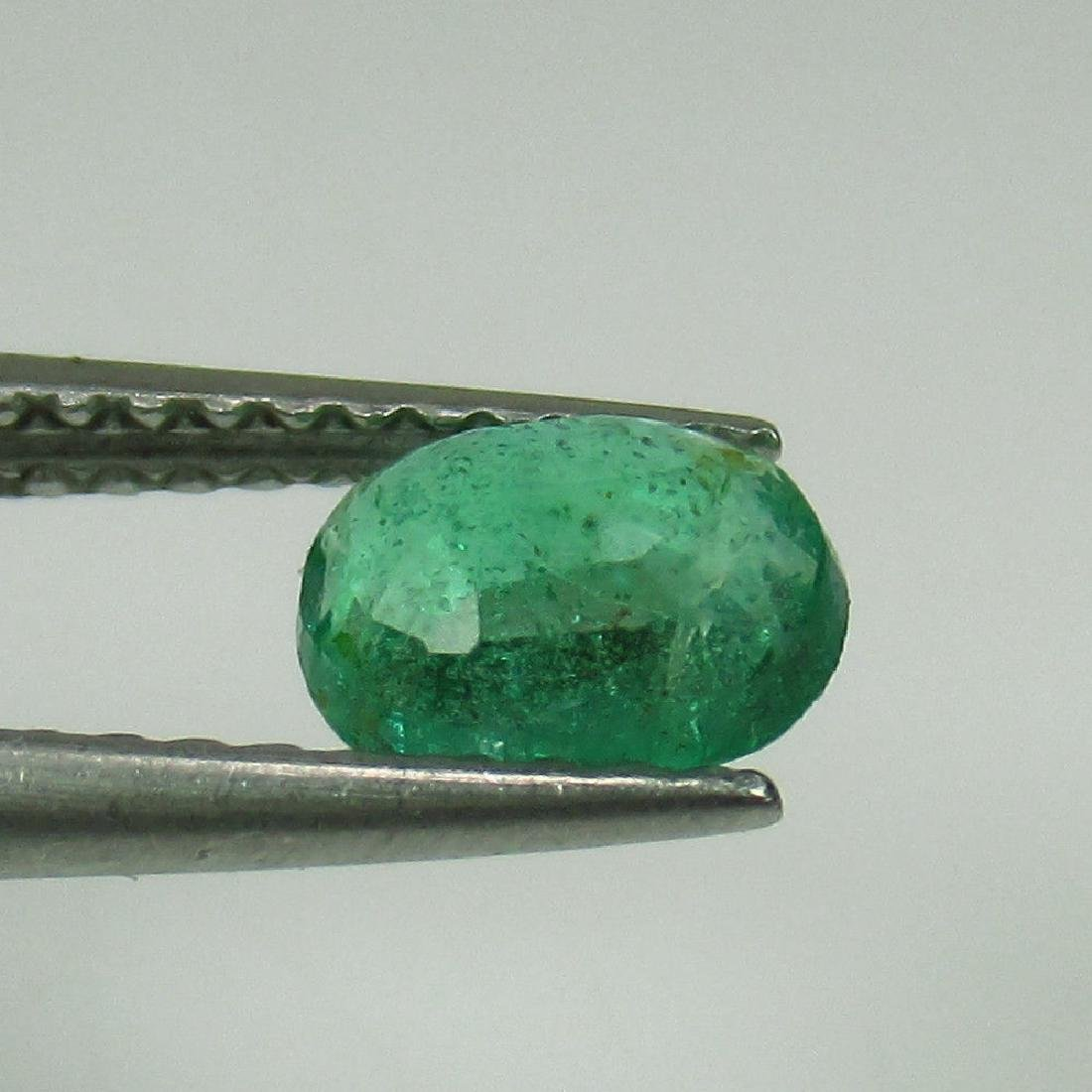 0.61 Ct Genuine Zambian Emerald Nice Oval Cut - 2