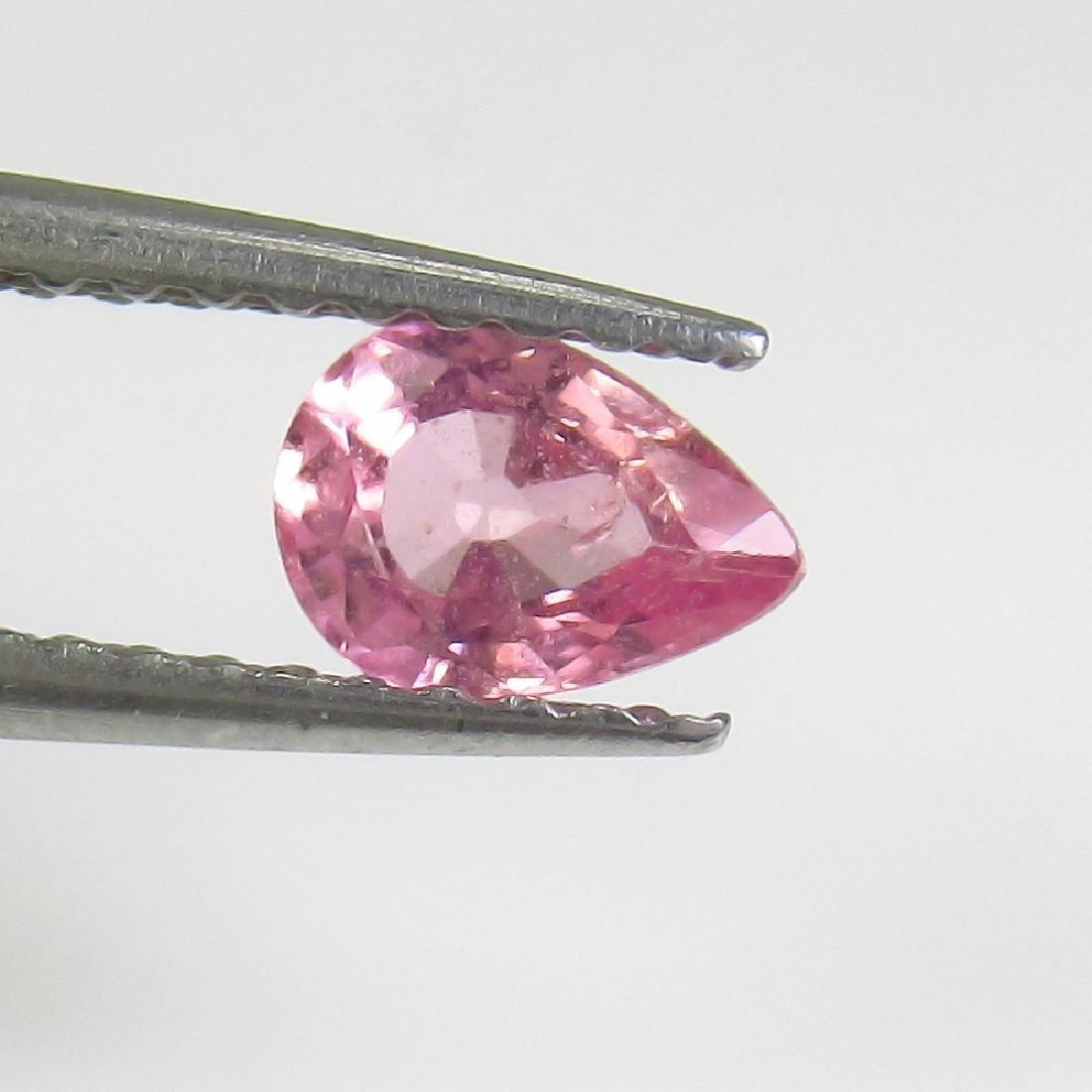 0.47 Ct Genuine Ceylon Pink Sapphire Pear Cut