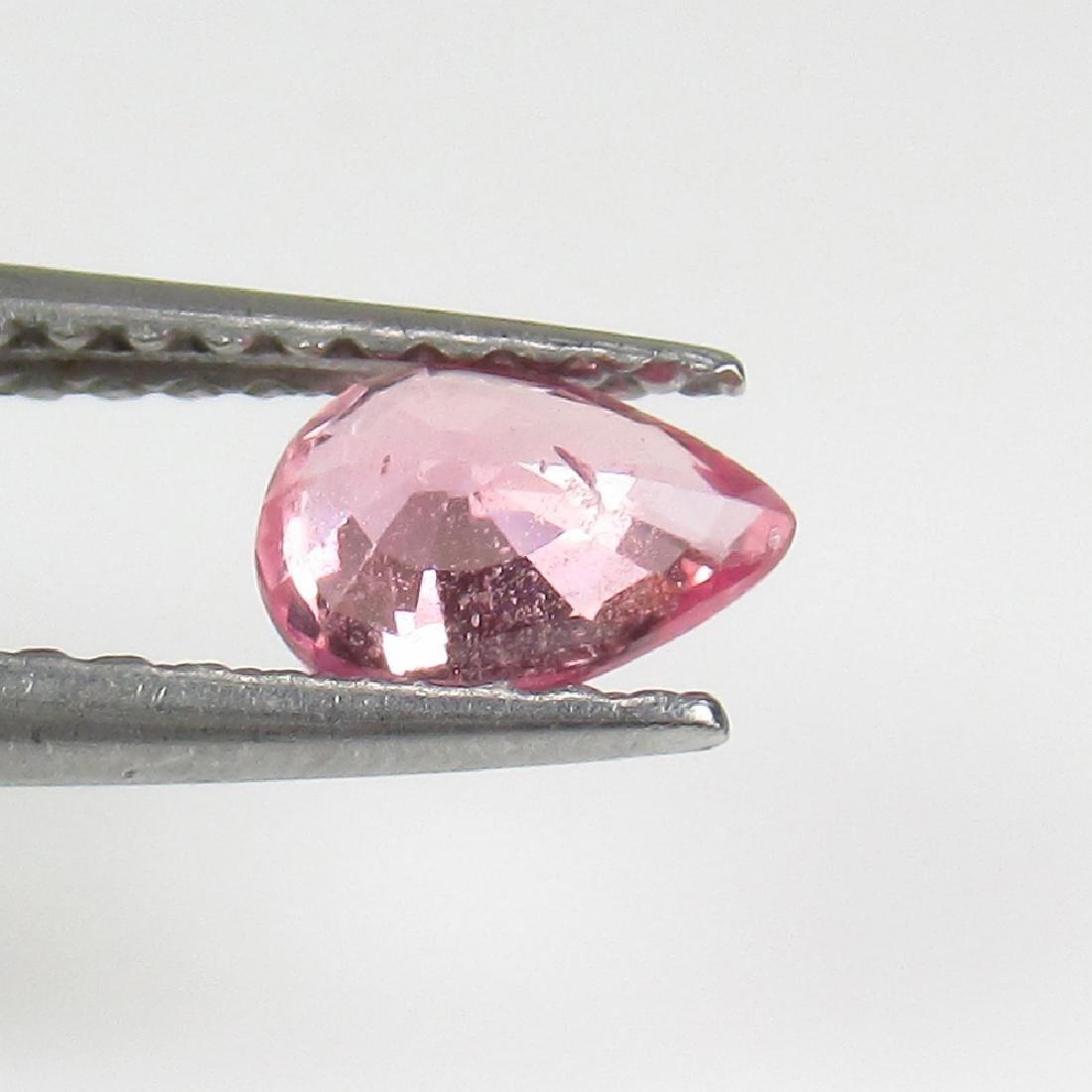 0.47 Ct Genuine Ceylon Pink Sapphire Pear Cut - 2