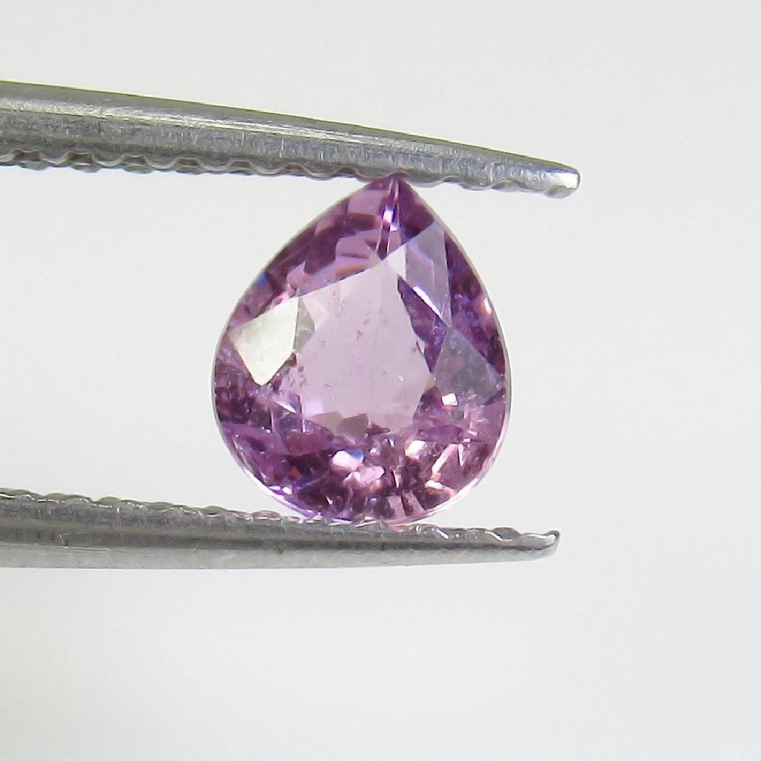 0.60 Ct Genuine Ceylon Violet Sapphire Pear Cut
