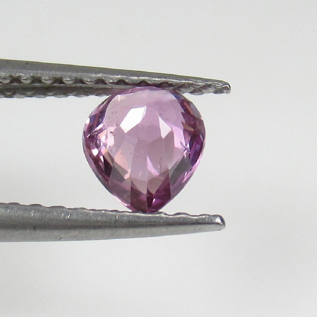 0.60 Ct Genuine Ceylon Violet Sapphire Pear Cut - 2
