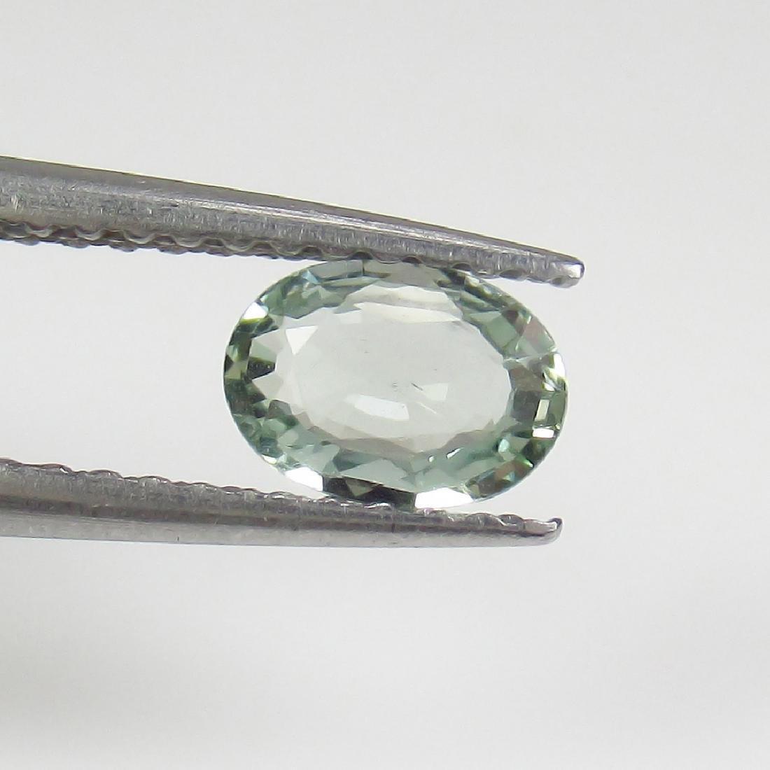 0.45 Ct Genuine Ceylon Green Sapphire Oval Cut