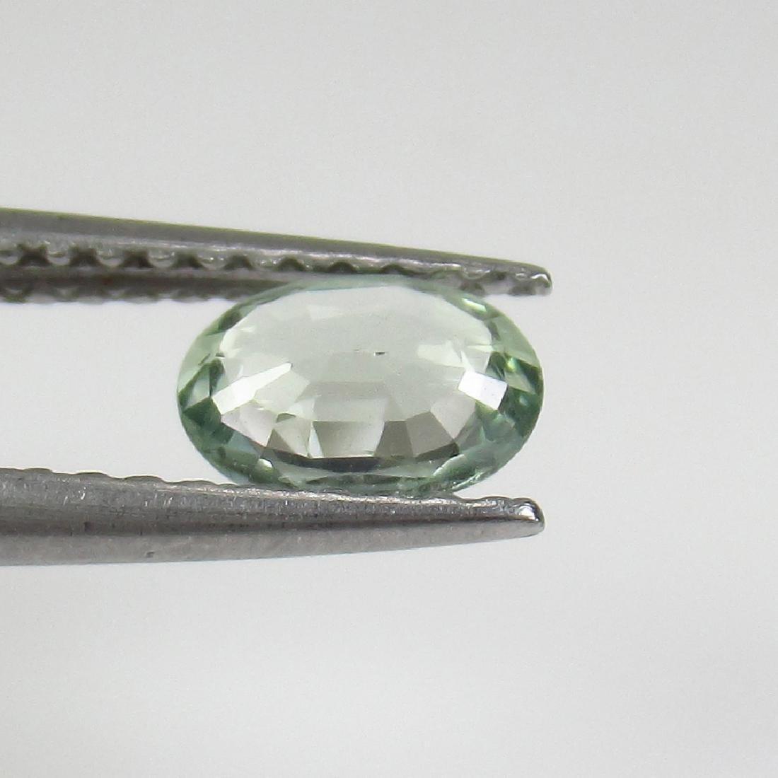 0.45 Ct Genuine Ceylon Green Sapphire Oval Cut - 2