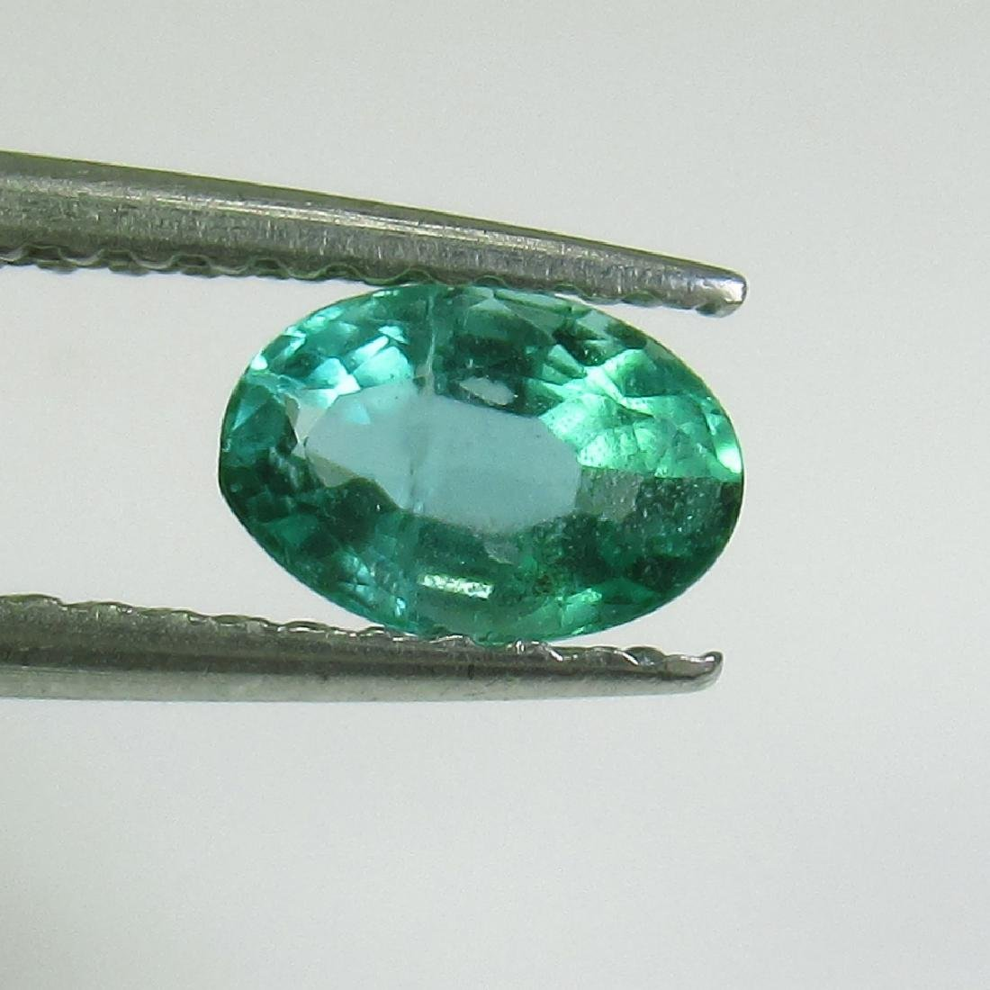 0.48 Ct Genuine Zambian Emerald 6X4 mm Oval Cut