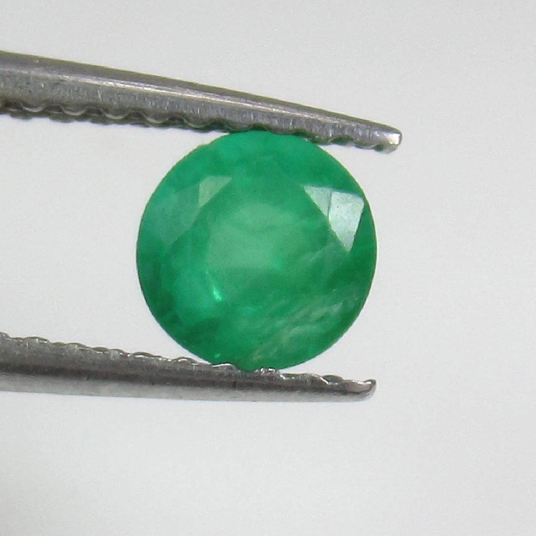 0.45 Ct Genuine Zambian Emerald 5 mm Round Cut