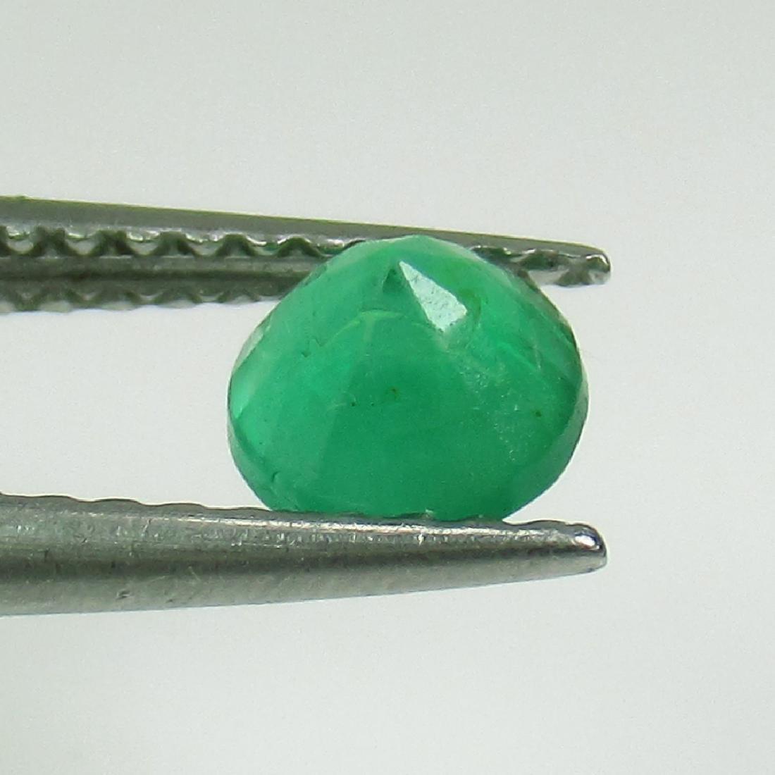 0.45 Ct Genuine Zambian Emerald 5 mm Round Cut - 2