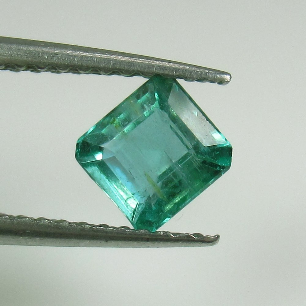 0.69 Ct Genuine Zambian Emerald Excellent Octagon Cut