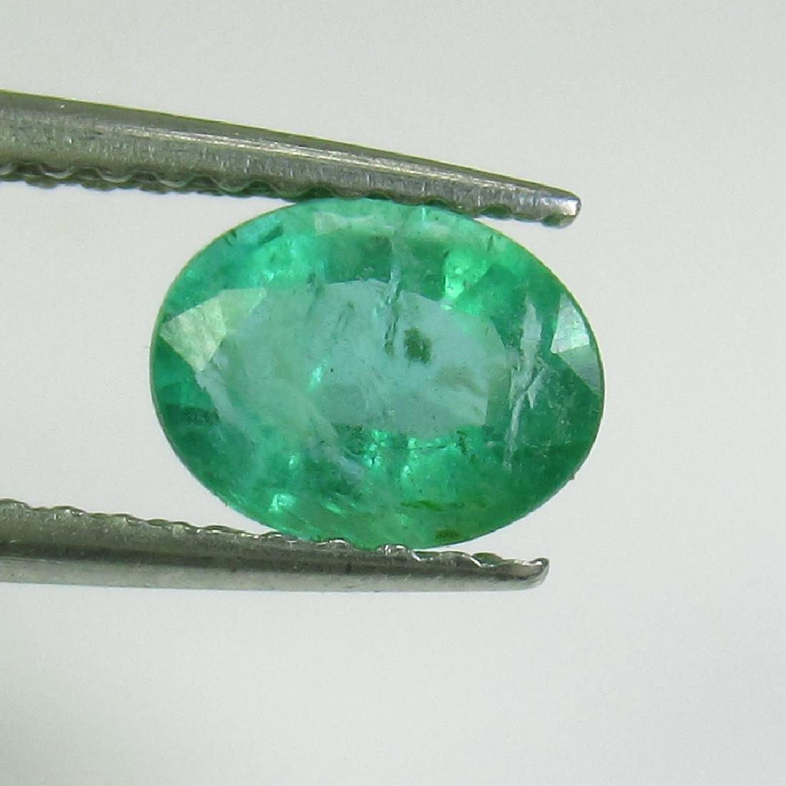 0.70 Ct Genuine Zambian Emerald 6.5X5 mm Oval Cut