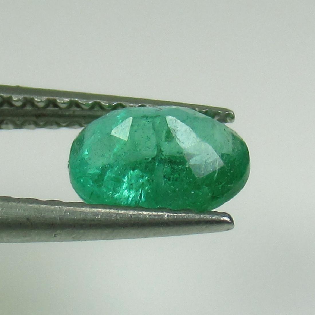 0.70 Ct Genuine Zambian Emerald 6.5X5 mm Oval Cut - 2