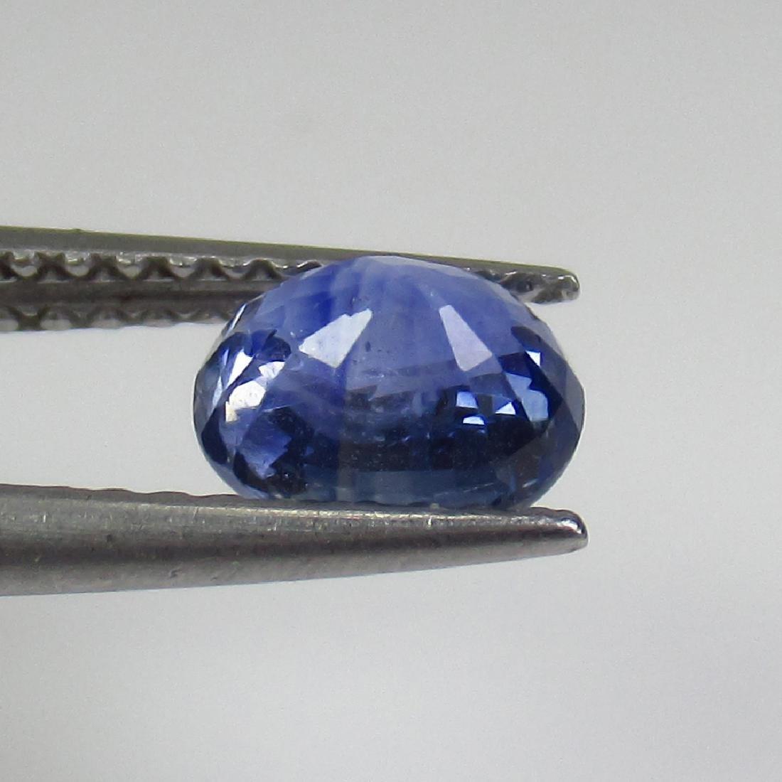 1.11 Ct Genuine Ceylon Blue Sapphire Oval Cut - 2