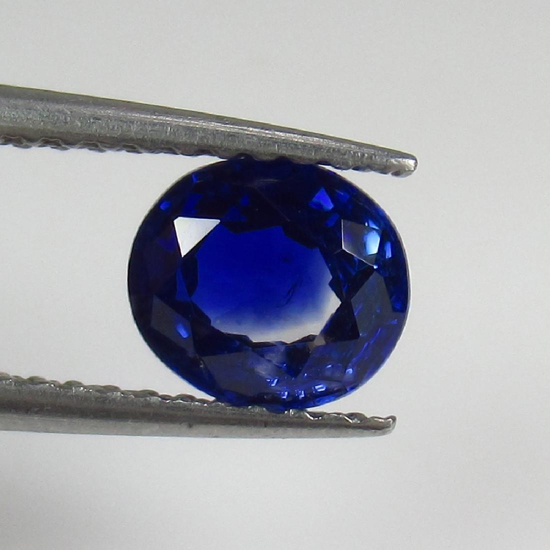 1.11 Ct Genuine Ceylon Deep Blue Sapphire Oval Cut