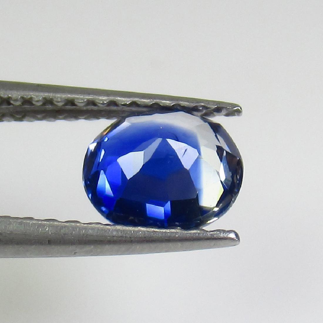 1.11 Ct Genuine Ceylon Deep Blue Sapphire Oval Cut - 2