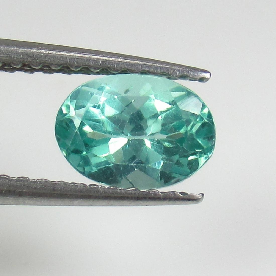 0.98 Ct Genuine Green Apatite 7X5 mm Oval Cut