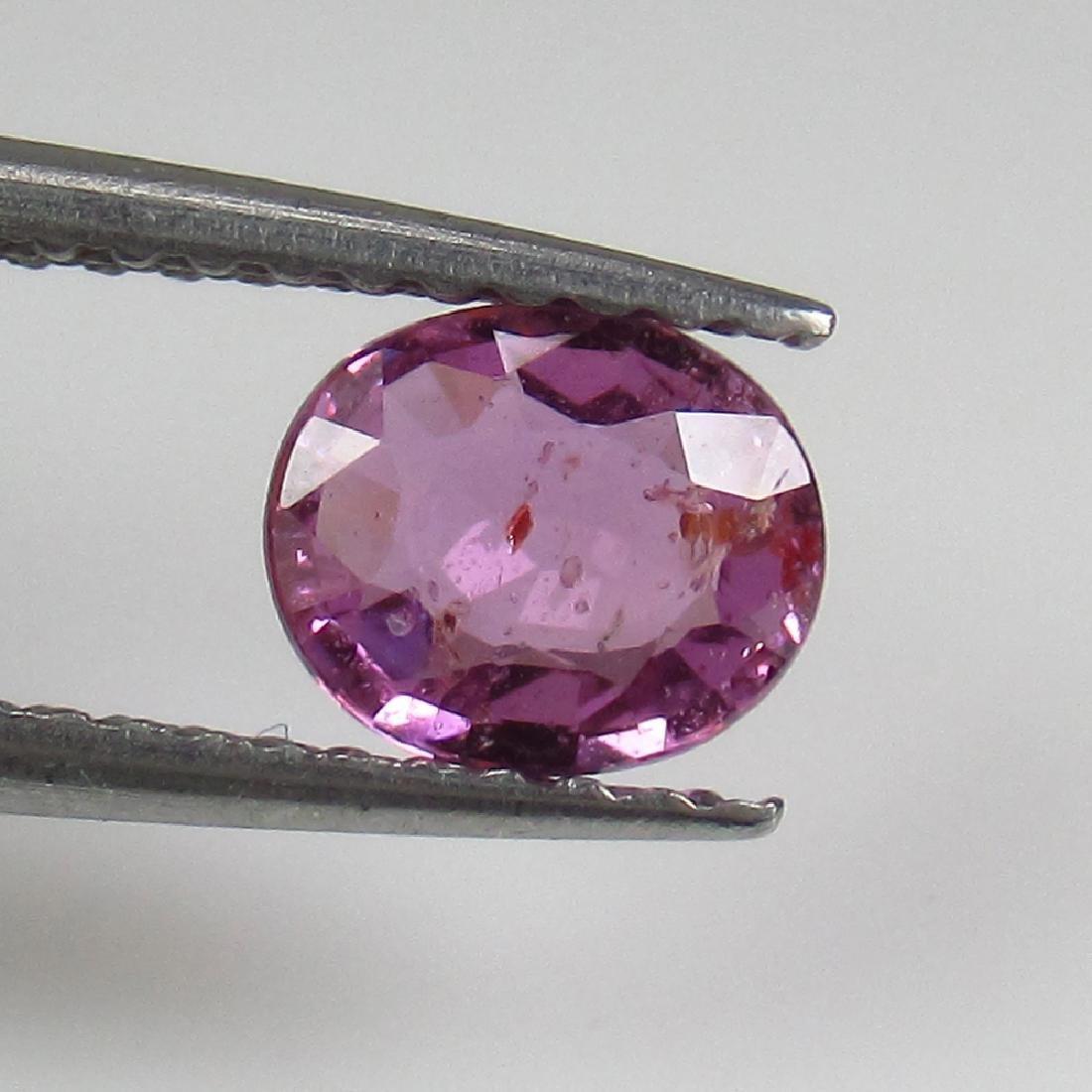 0.75 Ct Genuine Ceylon Pink Sapphire 6X5 mm Oval Cut