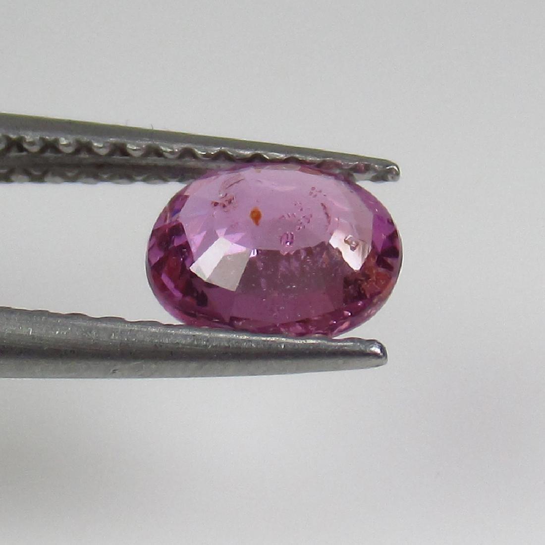 0.75 Ct Genuine Ceylon Pink Sapphire 6X5 mm Oval Cut - 2