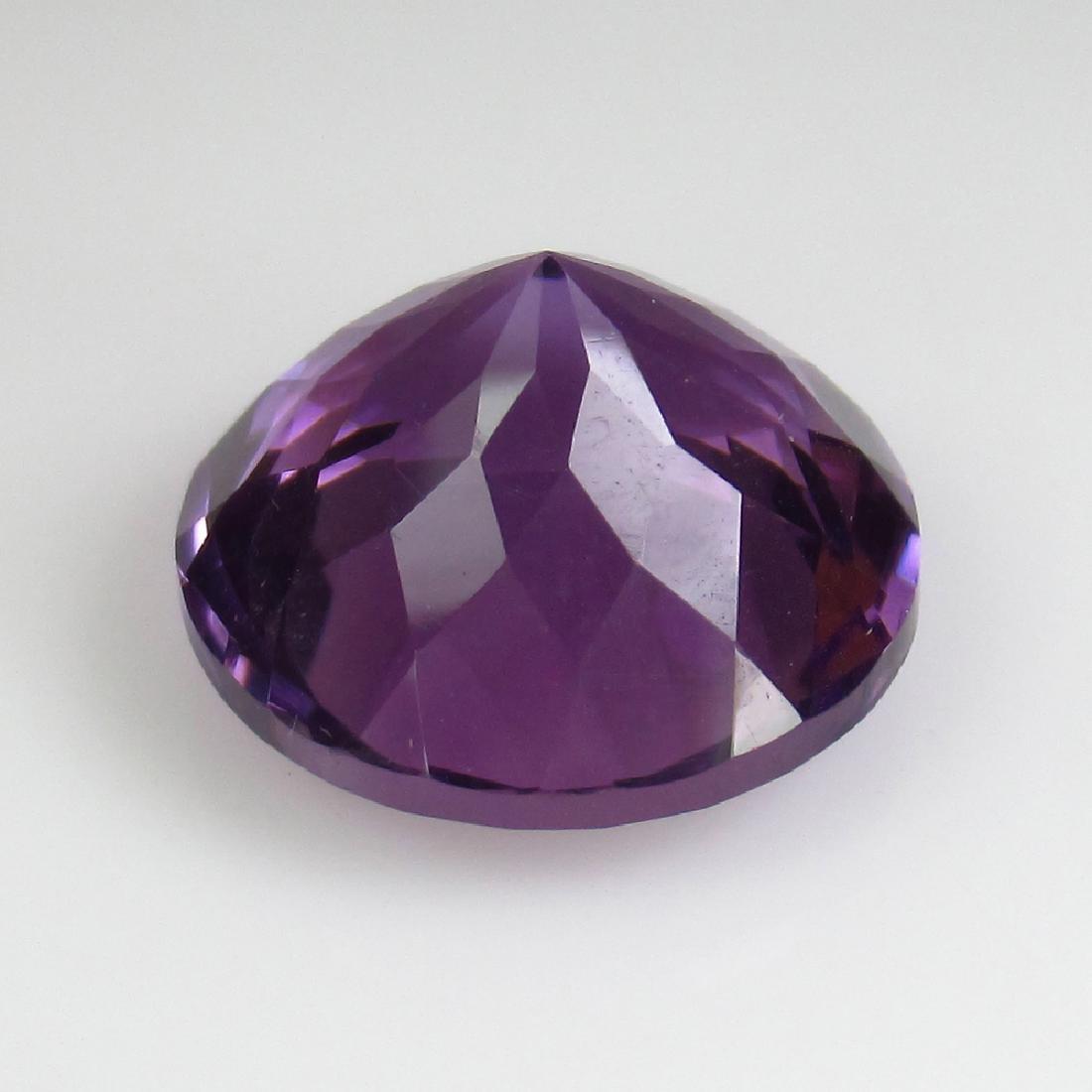 9.70 Ct Genuine Purple Amethyst 14 mm Round Cut - 2