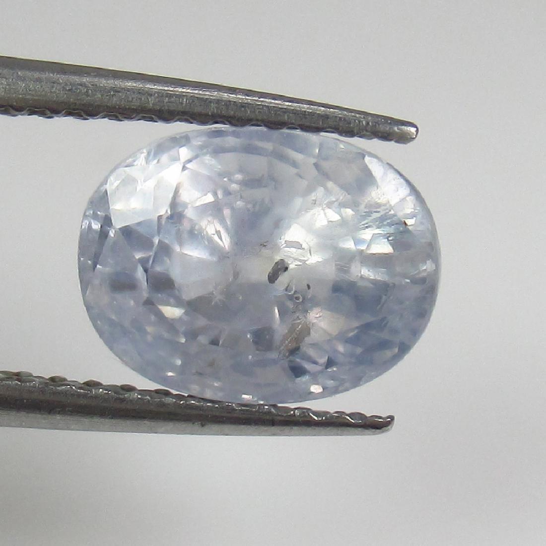 3.16 Ct Genuine Ceylon Unheated Very Light Blue
