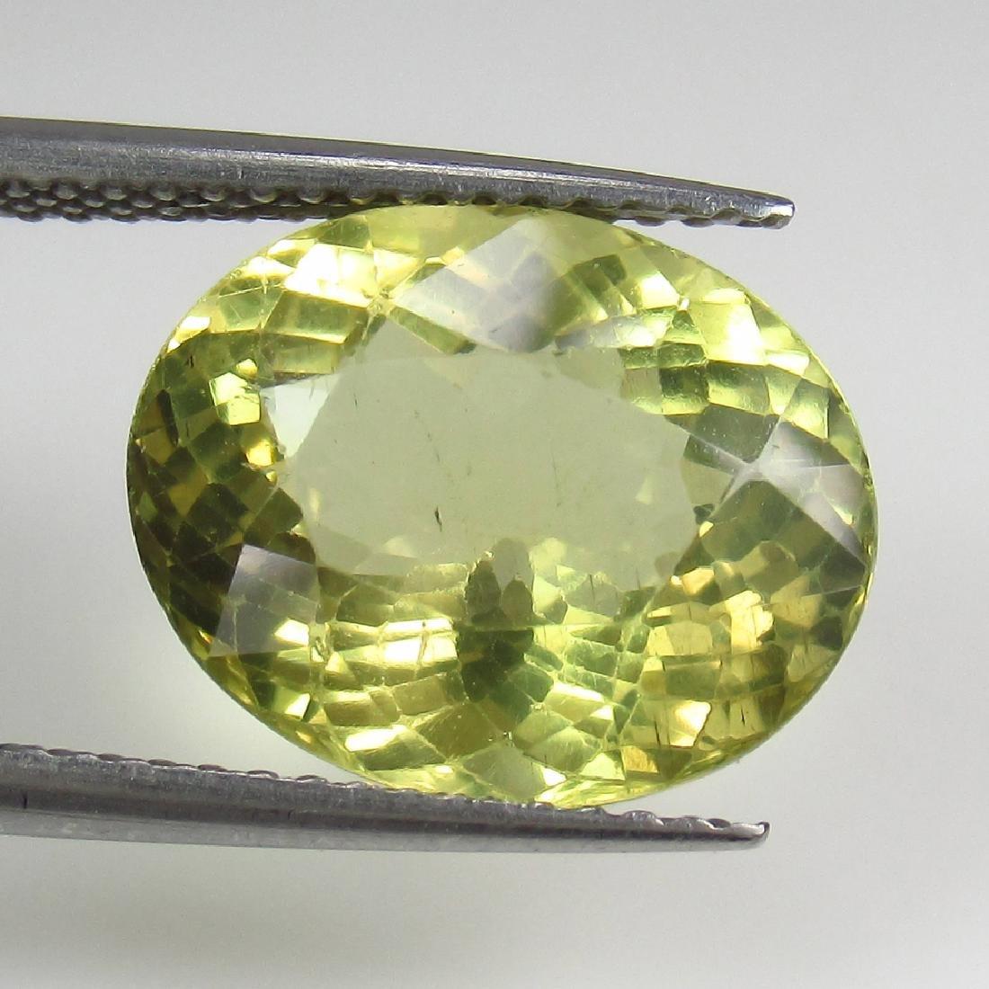 6.05 Ct Genuine Yellowish Green Apatite 13X10.5 mm Oval