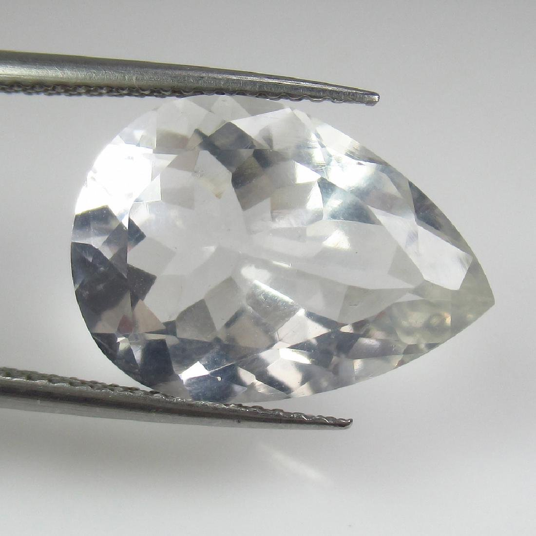 7.77 Ct Genuine Rock Crystal Nice Pear Cut