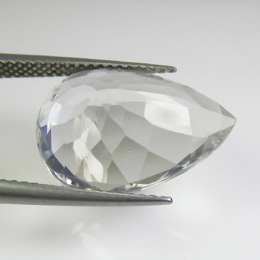 7.77 Ct Genuine Rock Crystal Nice Pear Cut - 2