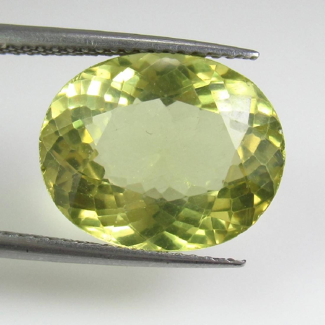 7.47 Ct Genuine Yellowish Green Apatite 14.5X11.5 mm