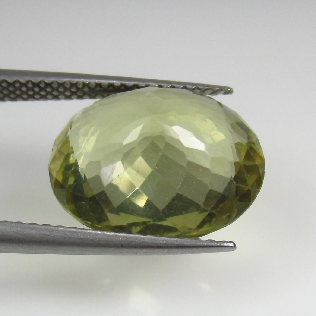 7.47 Ct Genuine Yellowish Green Apatite 14.5X11.5 mm - 2