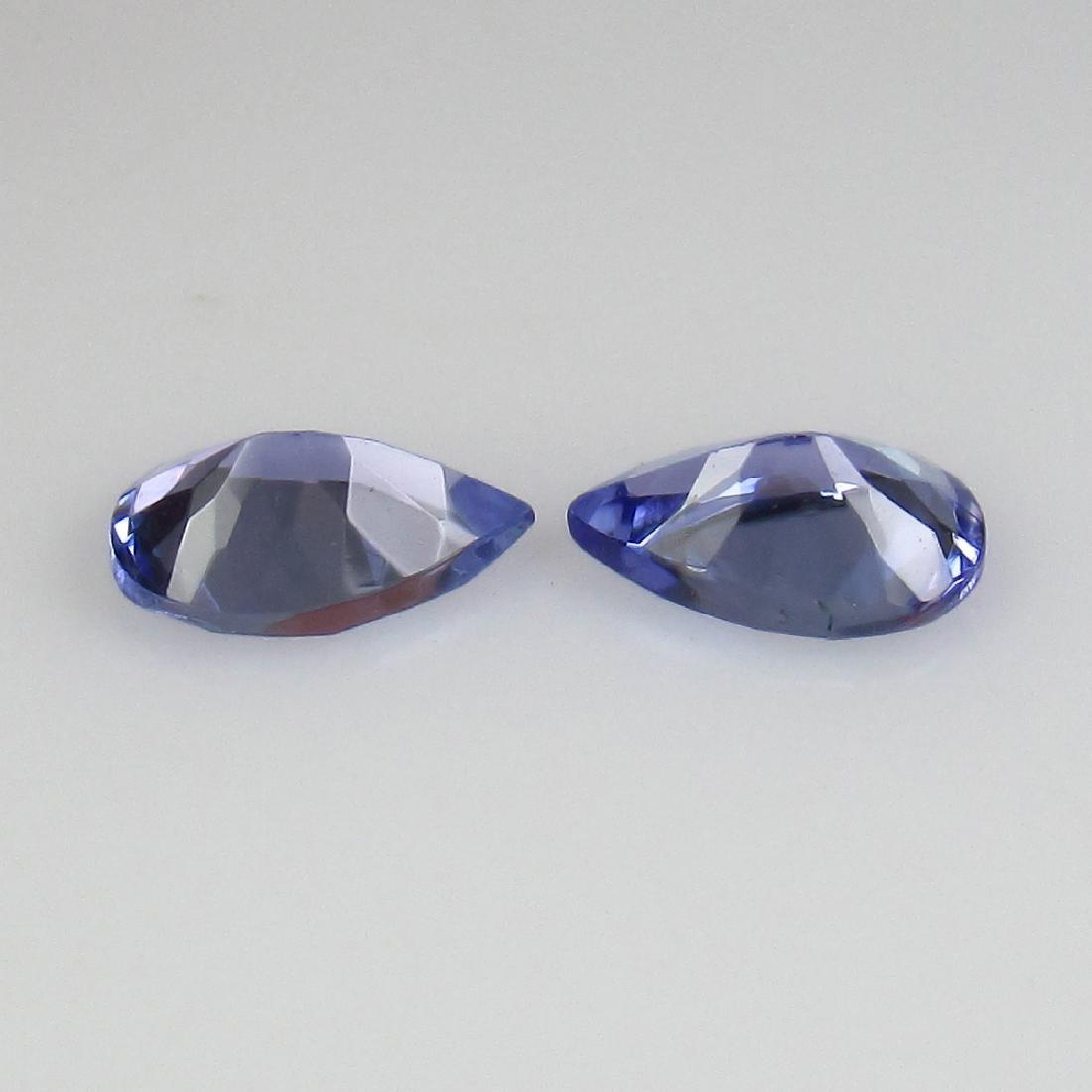 0.72 Ct Genuine Tanzanite 6X4 mm Matching Pear Pair - 2