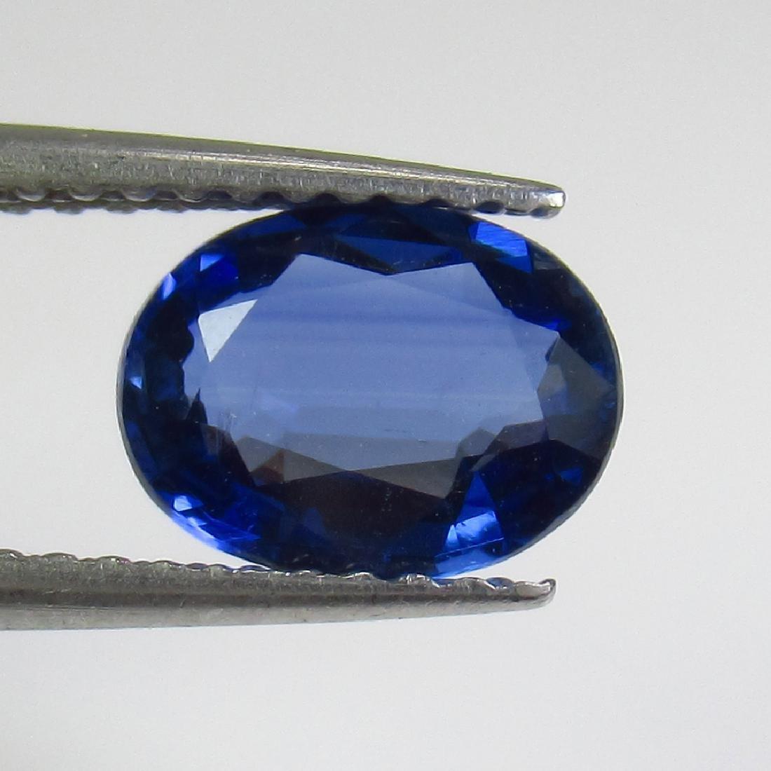 1.33 Ct Genuine Deep Blue Kyanite 8X6 mm Oval Cut
