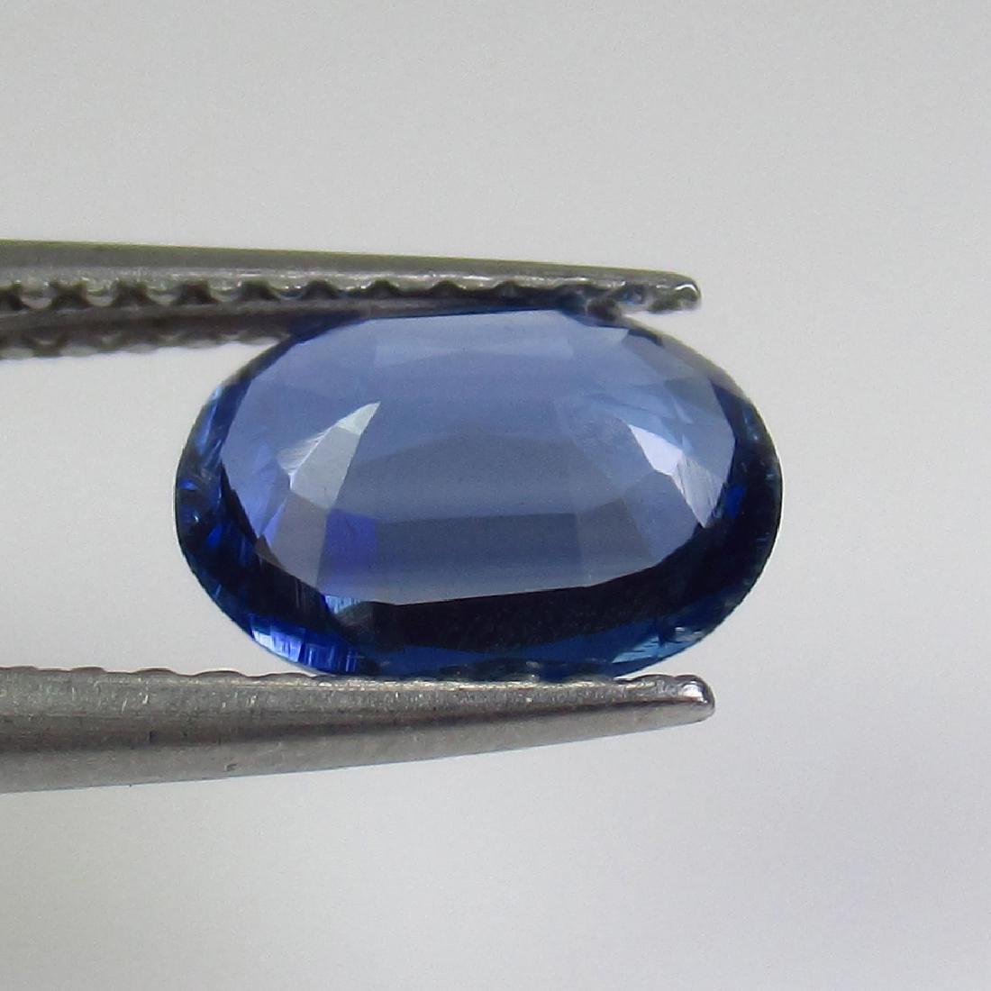 1.33 Ct Genuine Deep Blue Kyanite 8X6 mm Oval Cut - 2